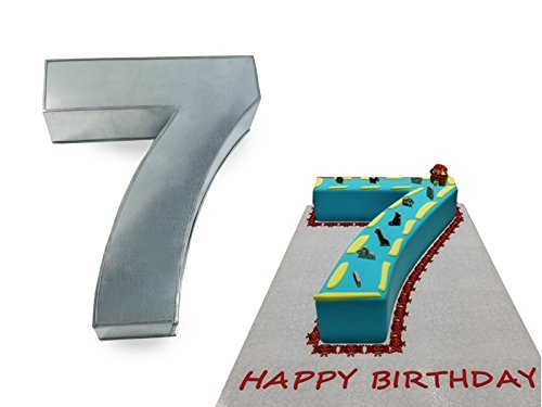 Small Number Seven 7 Wedding Birthday Anniversary Cake Baking Pan / Tin 10