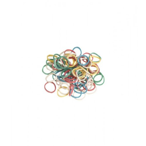 SIBEL pack of 500 small hair bands for braiding - Assorted colours