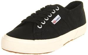 Superga Women's 2750 Cotu Fashion Sneaker,Black,36 EU/Womens 6 M US