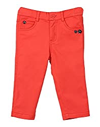 Beebay Red Twill Capri (G0415108701914_Red_8Y)