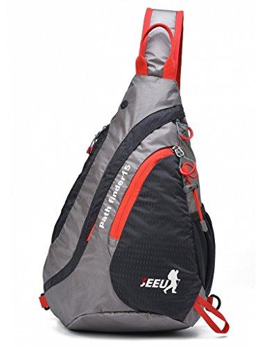 SEEU Sling Bag Backpack, Ultralight Water-resistant Multipurpose Outdoor Chest Bag for Women Men Kids