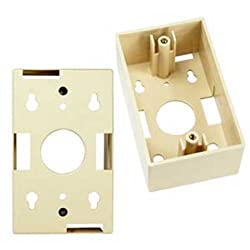 SF Cable Surfacemount Box for Wall Plate Ivory Color