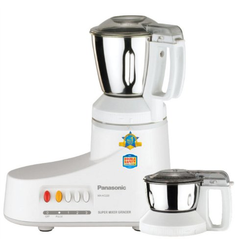 550 Watt Panasonic MX-AC220 at Rs 2599 - Super Mixer Grinder Lowest Price