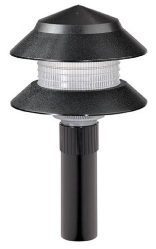 Paradise GL22627BK Low Voltage Plastic 4-Watt Two Tier Path Light, Black