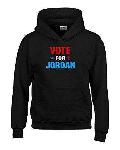 Vote For Jordan First Name - Boys Hoodie Kids S Black