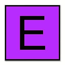 Alphabet E Purple Canvas Print Black Frame Kids Bedroom Wall Décor Home Art