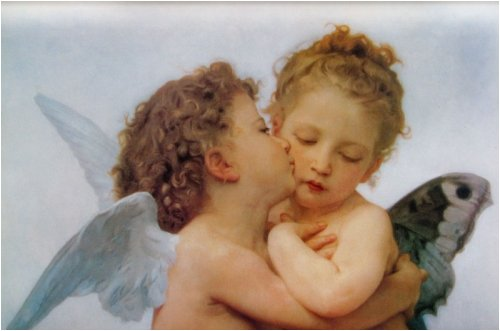 (13x19) William Bouguereau Le Premier Baiser The First Kiss Art Print Poster