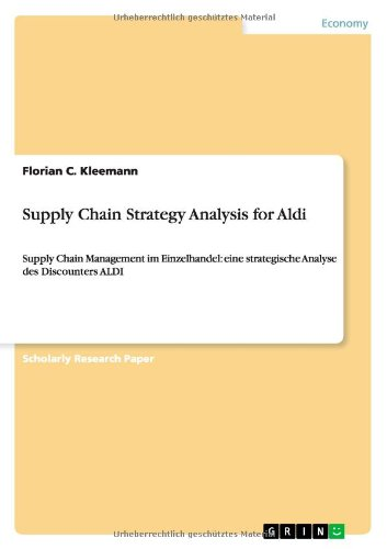 Supply Chain Strategy Analysis For Aldi