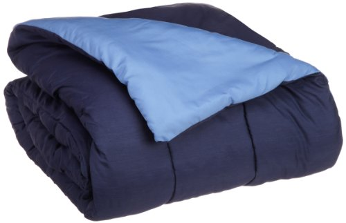 Martex Reversible Twin Comforter, Navy/Ceil Blue