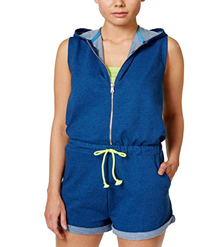 Jessica Simpson The Warm Up Juniors Sleeveless Hooded Romper Medium