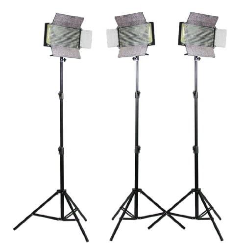 Fancier Studio Fan 500A 3 LED Light Panel Kit 3 X 500 LED Light Panel