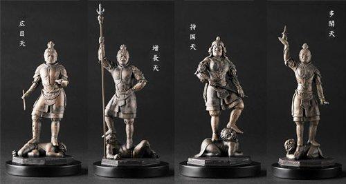 仏像アートシリーズ リアル仏像 四天王 (4体セット)