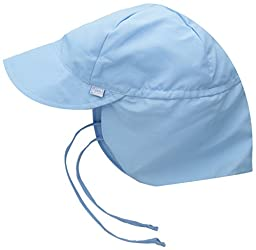 i play. Toddler Flap Sun Protection Swim Hat, Light Blue, 2T-4T