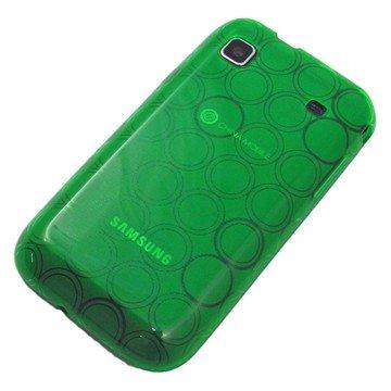 がうがう! docomo GALAXY S SC-02B / SAMSUNG GT-I9000 Clear Soft Case Circle Pattern, Clear Green 「docomo GALAXY S SC-02B / SAMSUNG GT-I9000」専用 クリアソフトケース サークル・パターン, クリアー・グリーン SGSI9000-CVC-06