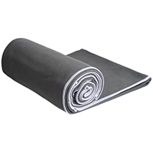 #1 Rated Hot Yoga Towel - Mat-Sized, Microfiber, Super Absorbent, Anti-slip, Injury Free, 24