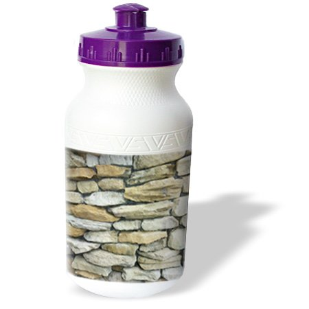 Wb_171795_1 Florene Designer Textures Ii - Image Of Stone Wall In Ft Myers Florida - Water Bottles