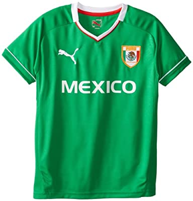 PUMA Big Boys' Mexico T-Shirt, Fern Green, Small