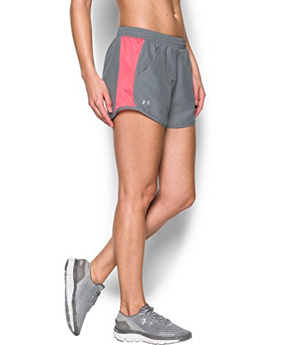Under Armour Women's UA Fly-By Perforated Run Short Large Steel