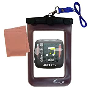 Outdoor Gomadic Waterproof Carrying Case designed for the Archos 14 Vision A14VG- Keeps Device Clean and Dry