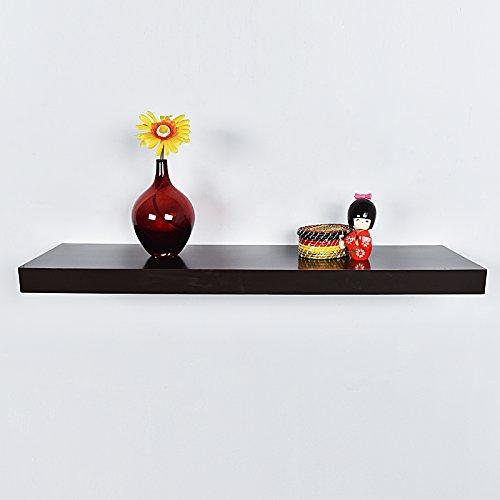 WELLAND Aspen Floating Wall Shelves, 36 inch, Espresso