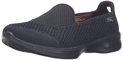 Skechers Performance Women's Go Walk 4 Kindle Walking Shoe, Black, 8.5 W US
