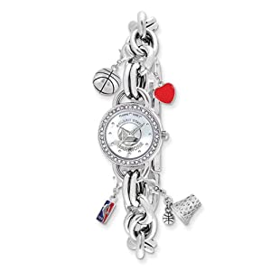 Ladies NBA Golden State Warriors Charm Watch by Jewelry Adviser Nba Watches