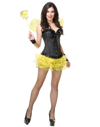 Pixie Tutu & Wings Set Adult (Yellow)
