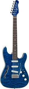 Luna Deco Series Semi-Hollow STE Electric Guitar - Teal