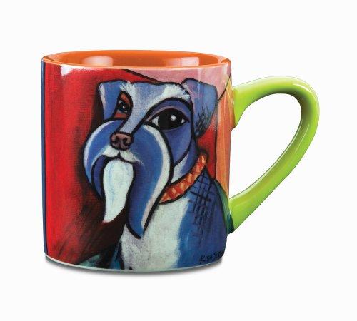 Paw Palettes Schnauzer Pawcasso Ceramic Mug, 16-Ounce front-218274