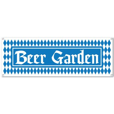 Beer Garden Sign Banner Party Accessory (1 count) (1/Pkg) - 1