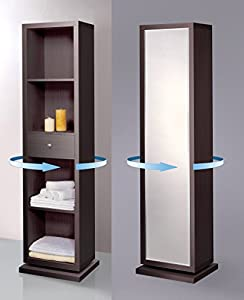 Artiva Usa Bella Home Deluxe Accent Sturdy Rotating System Free Standing Mirror