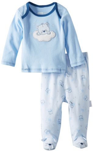 Vitamins Baby-Boys Newborn Sleepytime Bear Pajama Set, Blue, 6 Months front-931079