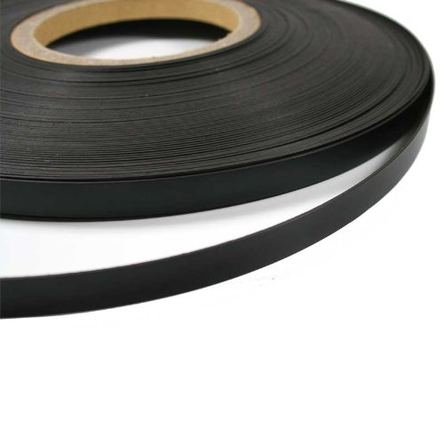 Gloss Black Magnetic Whiteboard Tape (10mm x 1.5mm thick) (1 metre)