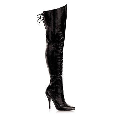 High-Heels-Stiefel: PleaserUSA Echt Leder-Overkneestiefel Legend-8899