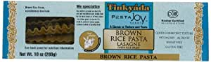 Tinkyada Brown Rice Lasagne with Rice Bran, 10-Ounce Boxes (Pack of 12)
