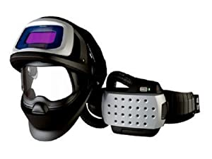 3M Adflo Powered Air Purifying Respirator Organic Vapor/Acid Gas and High Efficiency System with Speedglas Welding Helmet 9100 FX-Air, 26-3301-10SW, SideWindows and Auto-Darkening Filter 9100V, Shades 5, 8-13 from 3M Industrial Market Center