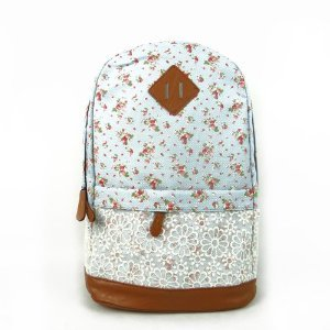 Best Deals! Eforstore Cute Lace Vintage Countryside Flora School Student Backpack College Laptop Bag...