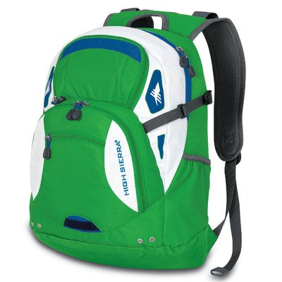 High Sierra Scrimmage Backpack, Kelly Green, 19.25X13.5X9.25-Inch