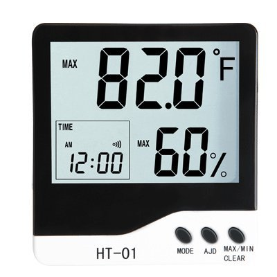 Ambient Weather WS-HT01 Jumbo Display Thermo-Hygrometer with Alarm Clock by Ambient Weather