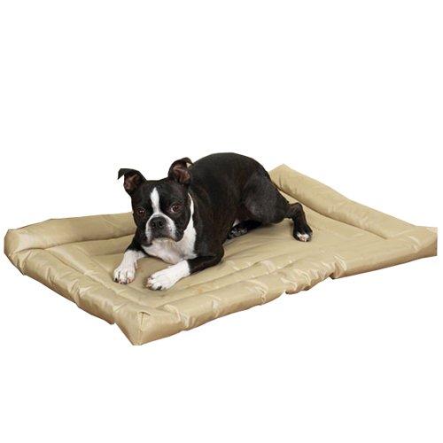 Slumber Pet Nylon Water Resistant Dog Bed, Large, Tan front-567416