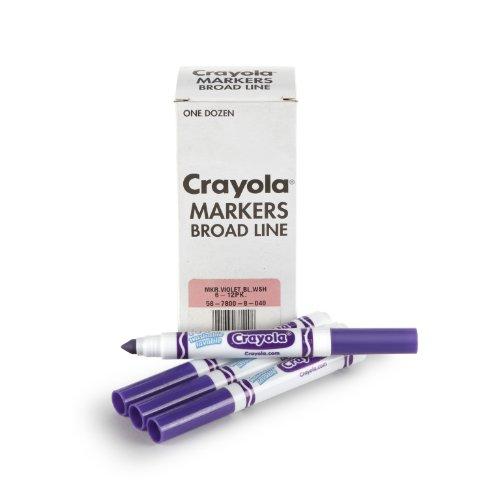 Crayola 12 Count Washable Bulk Markers, Violet Purple