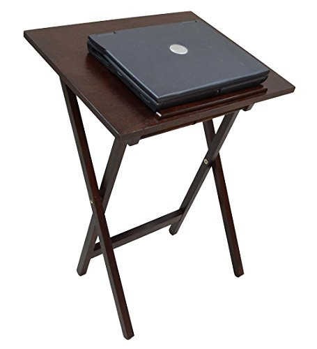 Smart Tray Snack/Laptop Table, in Chestnut (Sliding Tv Table compare prices)