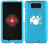 Motorola Droid ULTRA XT1080 Snap On 2 Piece Rubber Hard Case Cover Drum Set Light Blue