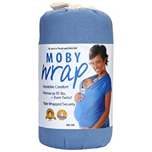 Moby Wrap Original 100% Cotton Solid Baby Carrier