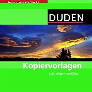 Kopiervorlagen Naturwissenschaften S I. Luft, Wetter und Klima. (PC, Mac, Linux)