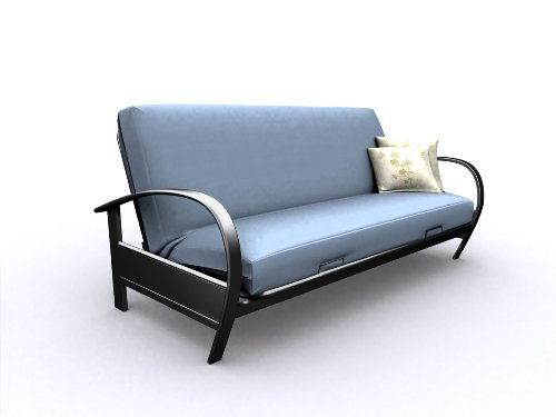american furniture alliance modern loft evolution full metal futon frame black futon frame    futon bed store  rh   futonoutfitters