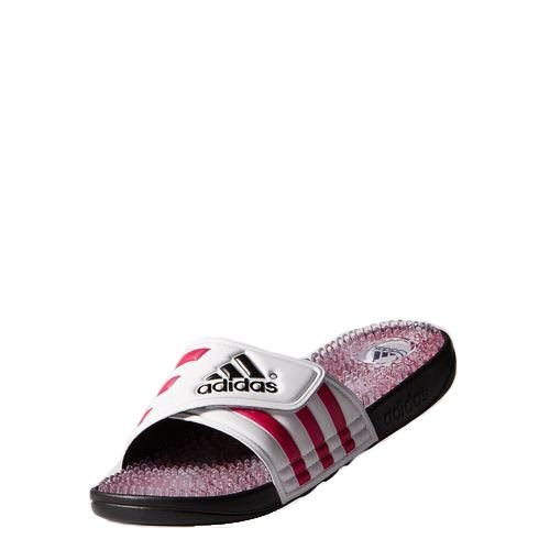 Adidas Women'S Adissage Graphic Slides, Black/Bold Pink/White, 9 front-983518