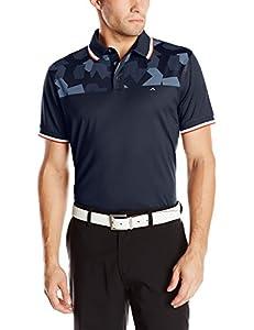 J.Lindeberg Men's M Adrian Slip Jersey Golf Polo, Navy Purple, X-Large