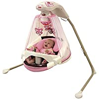 Fisher-Price Papasan Cradle Swing Mocha Butterfly (Pink)