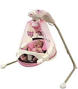 buy fisher price papasan cradle swing mocha butterfly online at low prices in india. Black Bedroom Furniture Sets. Home Design Ideas